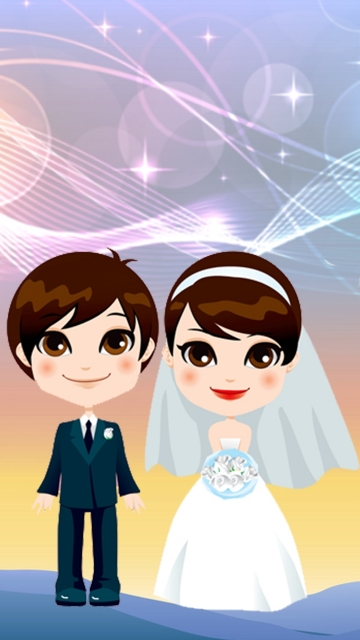Little Bride And Groom Smiling Hd Image
