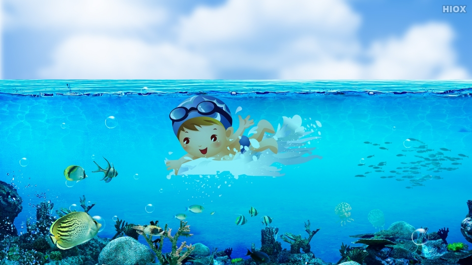 Person Swimming On Water Body Hd Wallpaper