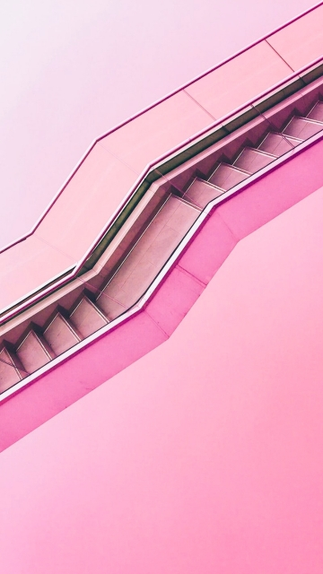 Pink Staircase Hd Photo