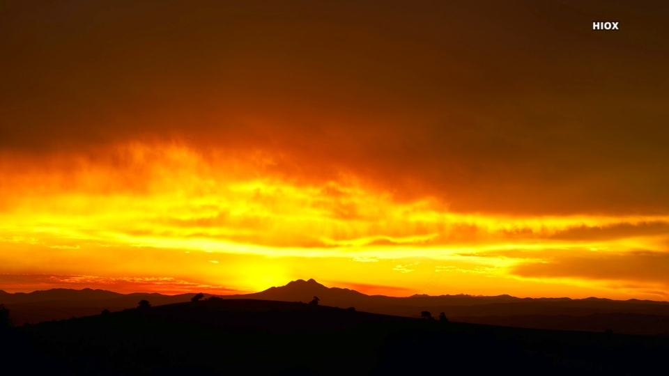 Mountain During Sunset Silhouette Hd Photo