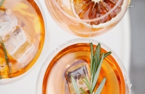 Citrus Wine With Ice Cubes HD Wallpaper