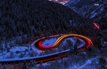 Curved Roads Between Mountain Hd Photo