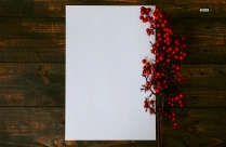 Fruits And White Paper On Wooden Board Hd Image