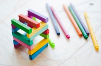 Colorful Building Blocks And Sketches Hd Picture