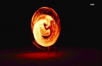 HD Time Lapse Photography Of Firedancing Man