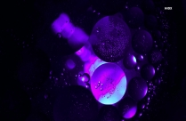 High Contrast HD Photography Of Blue Bubbles