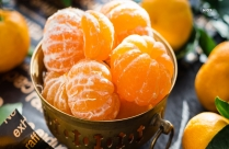 Peeled Oranges On Brass Bowl Hd Picture