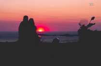 Silhouette Of Couple On Beach Hd