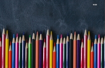 Colored Pencils Colorful Background HD Wallpaper Image
