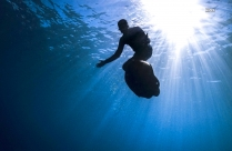 Man Swimming Under Water Hd Picture