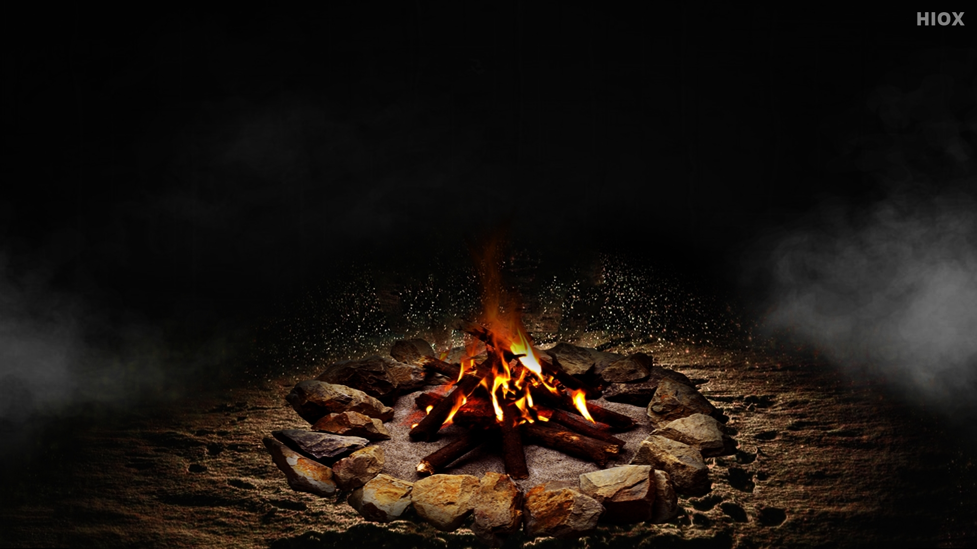 Warmth Camp Fire HD Wallpaper Image