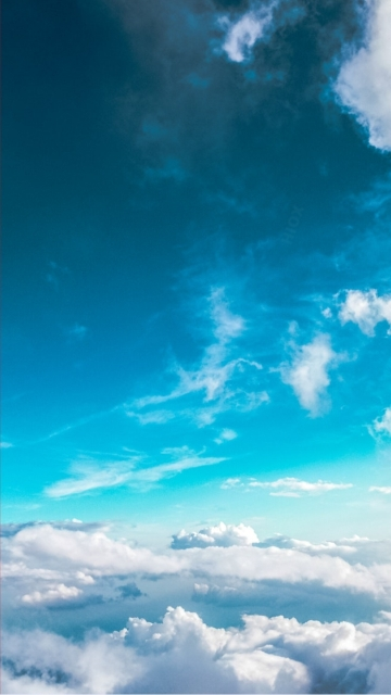 White Clouds And Blue Sky Hd Wallpaper
